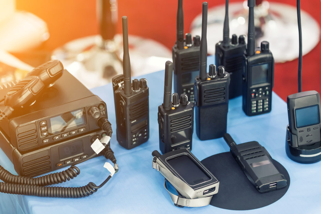 Many portable radio
