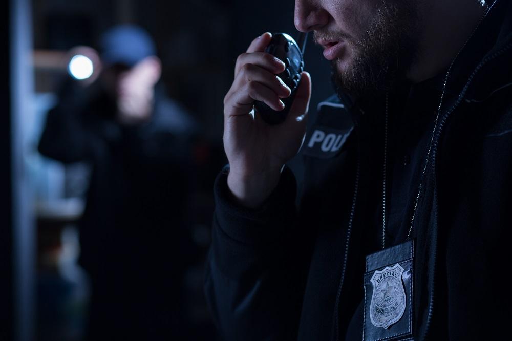 Officer using
