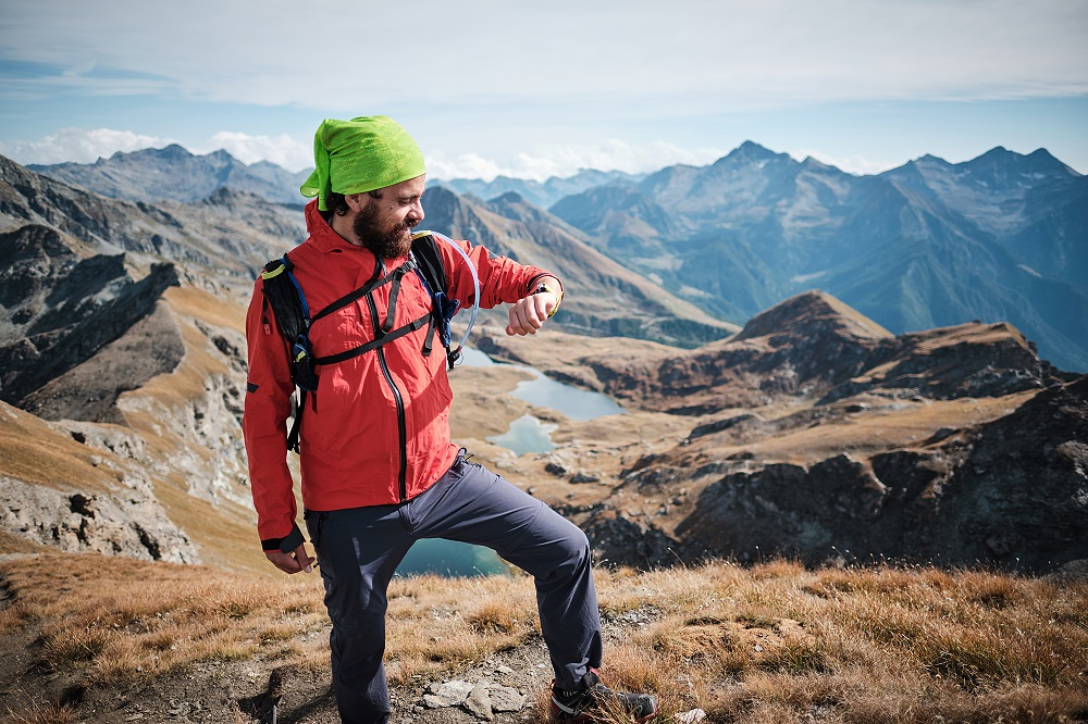 hiker and his navigation