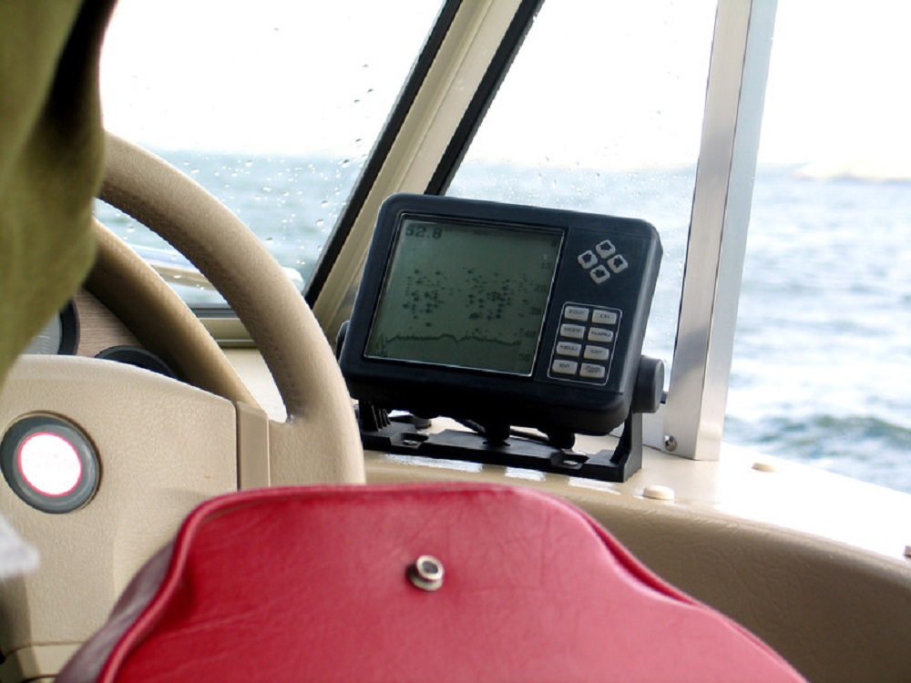 ship with a fish finder
