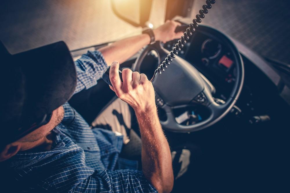 driver using a cb radio