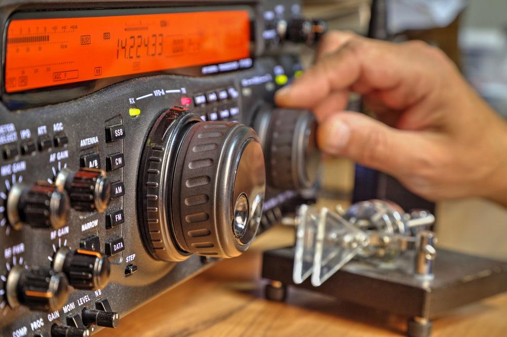 HAM radio set up